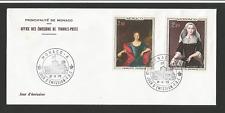 Principauté de Monaco 1er jour - FDC 1973 tableaux Charlotte Grimaldi /Fdca154