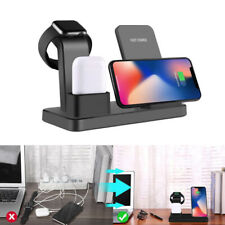 3 in 1 Wireless Fast Charger Stand For Apple Watch iPhone 11 Pro Max X/XS/8 Plus
