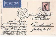 1930 Graf Zeppelin Flown Germany -  Basel Switzerland  12 4 1930