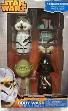 Star Wars Body Wash Gift Set 4 Pack Yoda Boba Fett Darth Vader Storm trooper