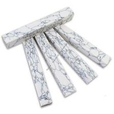 """SimStone - 04 White Marble Pen Blank 3/4"""" x 5"""" (1 pc)"""