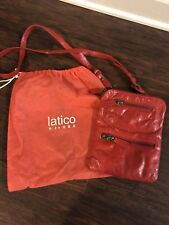 Latico Red Leather Crossbody Purse
