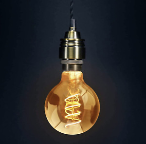 Antique LED Ball light Filament Vintage Retro Bulb Edison Lamp Glass G80