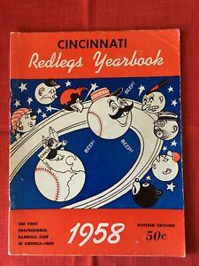 1958 Cincinnati Reds Yearbook