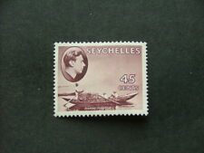 Seychelles KGVI 1938 45c chocolate Chalky Paper SG143 MM