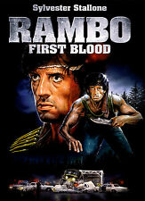 A4 POSTER-RAMBO First Blood (Blu-ray film in DVD film Sylvester Stallone Art)