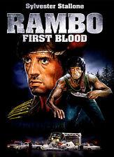 Cartel De A4-Rambo primera sangre (Blu-Ray DVD pelicula peli Sylvester Stallone Art)