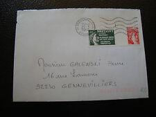 FRANCE enveloppe 1980(vignette de protestation bretigny sur orge)(cy6)french(R)