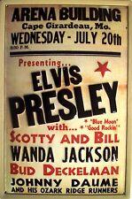 Elvis Presley Cape Girardeau Blechschild Schild 3D geprägt Tin Sign 20 x 30 cm