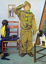 Can't Wait  22x30 Boy Scout Art Print by Norman Rockwell
