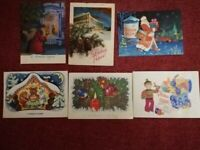 Lot of postcards USSR Happy New Year Russia Lenin Propaganda Santa Ded Moroz
