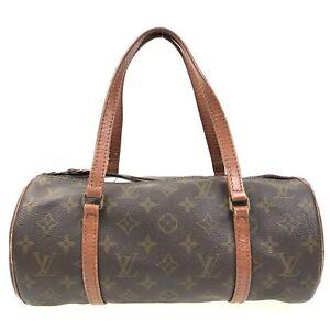 100% Authentic Louis Vuitton Monogram Papillon 30 handbag M51365 USED {07-0101}