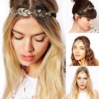 Women Boho Metal Rhinestone Head Chain Jewelry Head Piece Hair Band Headband FZ