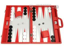 19-inch Premium Backgammon Set - Red Board, Backgammon Games