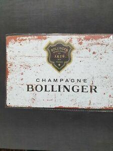 Bollinger Champagne Metal Sign Plaque Man Cave Garage Pub Bar Retro