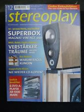 STEREOPLAY 12/01,MAGNAT VINTAGE 990,SCIENTIFIC AUDIO ELECTRONICS MK VI,AVALON