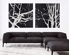 xxl-bild-set 200x95x5 Lienzo minimal-art Abstracto Negro Gris Cuadro Ikea