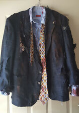 Hand Painted Zombie Business Man Costume Undead Walking Dead XL OOAK