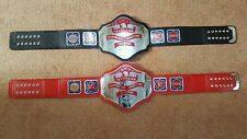 NWA Television Heavyweight Championship Belt Adult Size with WOODEN CASE.