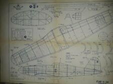 Model Airplane Plans Fiat G-55 Centaur Scale Rubber Power Ff by David G. Smith