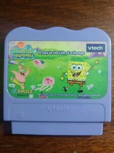 Vtech V.Smile Spongebob A Day in the Life of a Sponge Game Cartridge