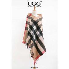 AUSH-001 UGG auzland sheepskin Merino Wool blend Shawl, 200CM x 70CM, Soft Fashi