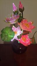"LED Flower AC PLUG - LIGHT UP PINK LOTUS-Fiber Optic Lights/""Watch Video Below"""