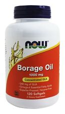 NOW Foods Borage Oil Highest GLA Concentration 1000 mg 120 Softgels