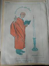 1920 Original Print Saint Pierre Wolff dit le Chauve dessin de Barrère