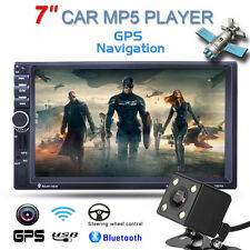 "2 DIN 7"" Car GPS Bluetooth MP5 Player FM Radio Stereo Player + Rear View Camera"