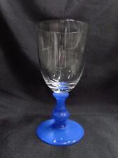 """Villeroy & Boch Isabelle Blue, Blue Stem, Clear Bowl: Water Goblet (s), 6 7/8"""""""