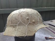 German wW2 Repilca Metal Helmet With Full Camo Basket
