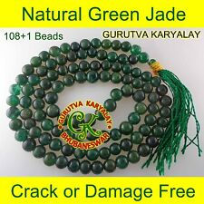 7-8 MM NATURAL GREEN JADE MALA JADE ROSARY Best FOR REIKI-HEALING & MEDITATION