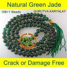 NATURAL GREEN JADE MALA 6-7MM JADE ROSARY Best FOR REIKI-HEALING-MEDITATION