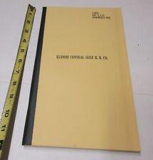 """Illinois Central Gulf Railroad Unused Ledger Book/"""""""