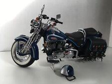 Franklin Mint Harley Davidson Motorcycle Heritage Springer 1:10 scale w/ helmet
