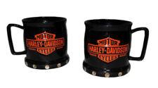 Harley Davidson Licensed Mugs Set Studded Rivet 3D New Bar & Shield Logo