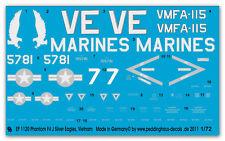Peddinghaus  1/72 1120 Phantom F 4J Silver Eagles Vietnam