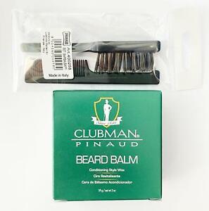 Clubman Pinaud Beard Balm and Styling Wax 59g + Beard / Moustache Brush & Comb