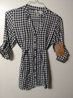 Women's Plaid Top Size Medium Route 66 clothing Company New
