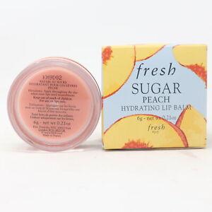 Fresh Sugar Hydrating Lip Balm Peach 0.21oz/6g New With Box