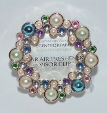 BATH & BODY WORKS PEARLS BEADS GEM SCENTPORTABLE HOLDER CAR VISOR CLIP FRESHENER