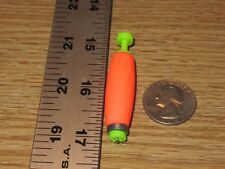"""24 1.50"""" FISHING BOBBERS Cigar Floats Flo- Orange Weighted Foam Snap on Float"""