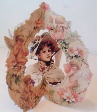 3D Greeting Card Valentine Victorian Cupid Stand Up Old Print Factory