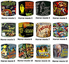 Classic Horror Films & Vintage, Retro Horror Movie Posters Printed Lampshades.