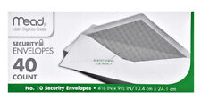 "Mead No. 10 Security Privacy Envelopes, 4-1/8"" x 9-1/2"" (40 Count)"