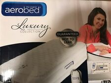 AeroBed Luxury Pillow Top 16-Inch Queen Air Mattress Inflatable Bed New