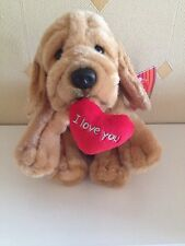 Keel 'I Love You' Soft Toy Dog Holding Heart Plush Comforter Teddy New