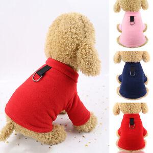 Pet Dog Sweater Jumper Vest Fleece Winter Warm Jacket Coat Puppy Outfit Apparel