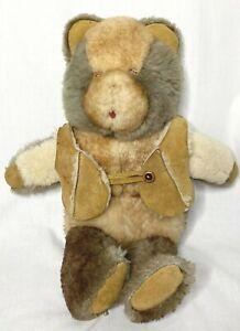 Vintage Sheepskin Teddy Bear Shearling Sheep Shack Teddi Generation Brown **FLAW